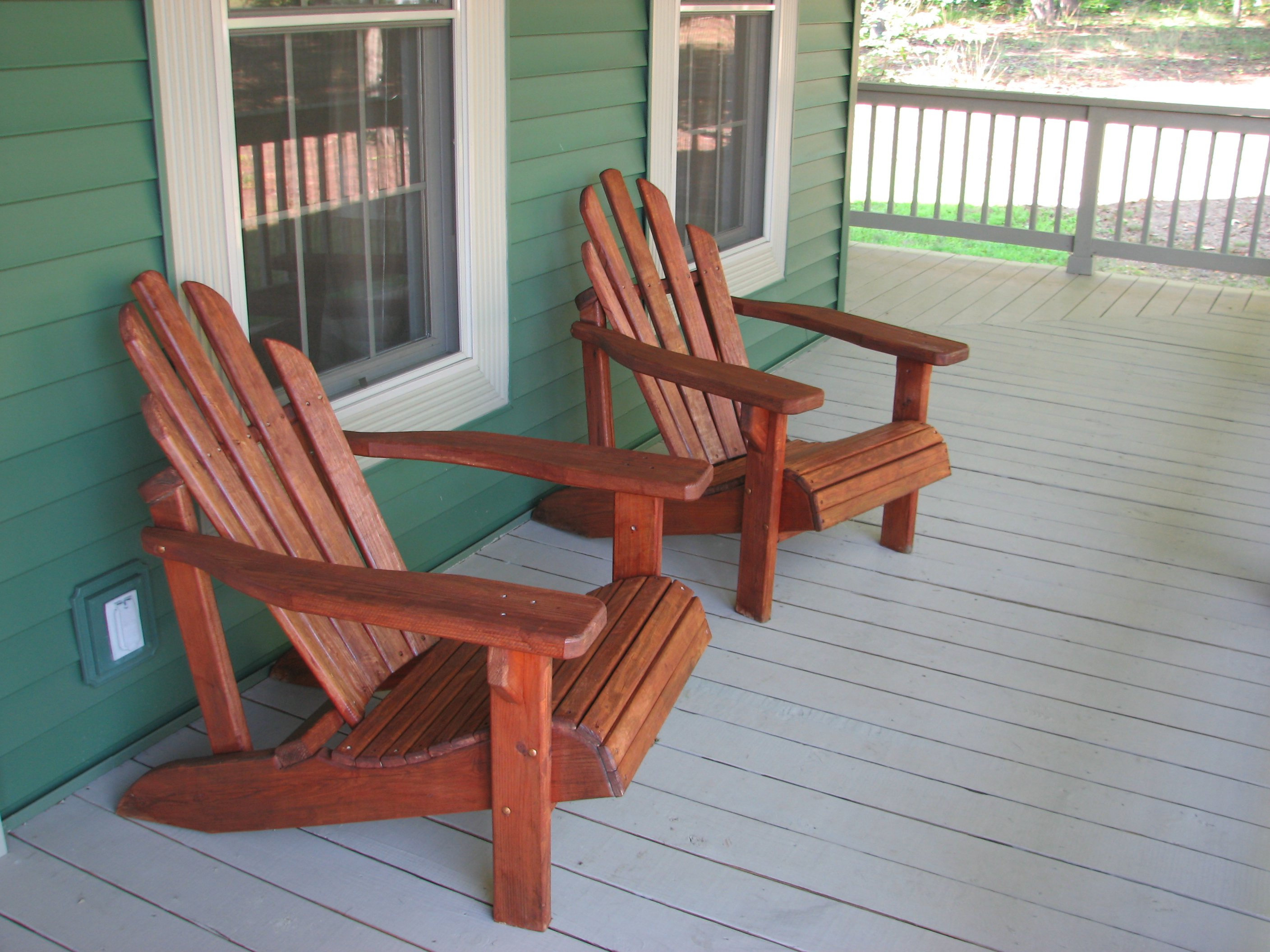 Re staining adirondack chairs living rich on lessliving What are chairs made of