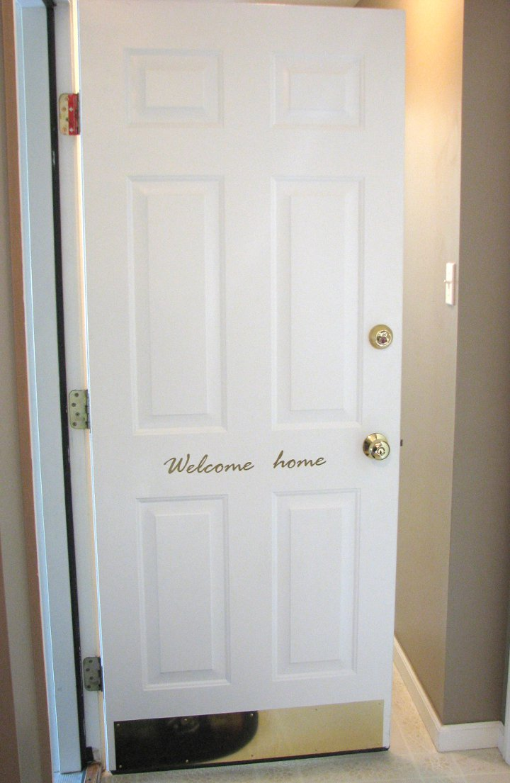 Entry Door Makeover Living Rich On Less