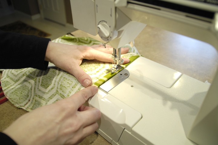 Sewing sides first