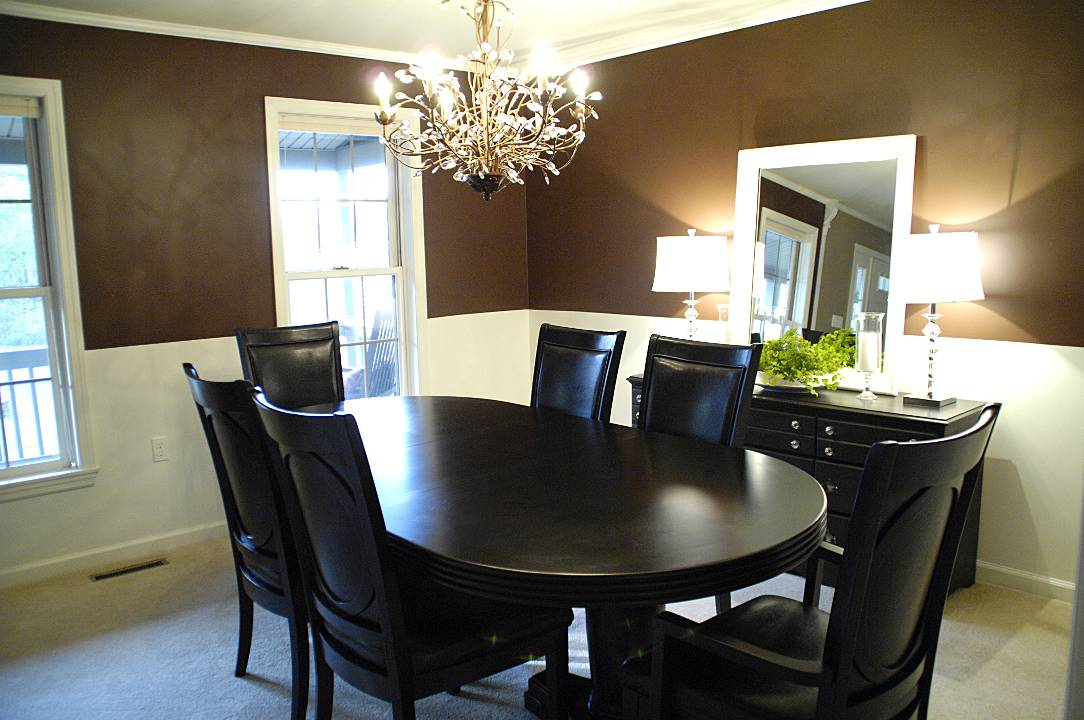 Chocolate brown dining room archives living rich on for Wall paint ideas for dining room