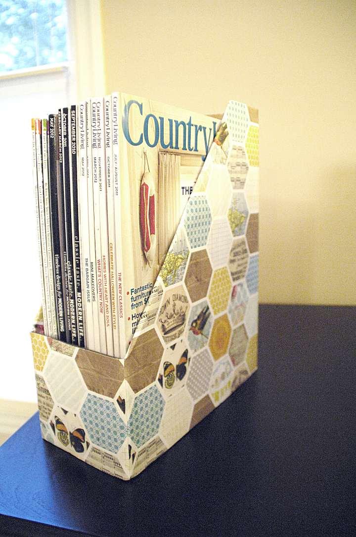 Diy magazine holders living rich on lessliving rich on less for Diy magazine box
