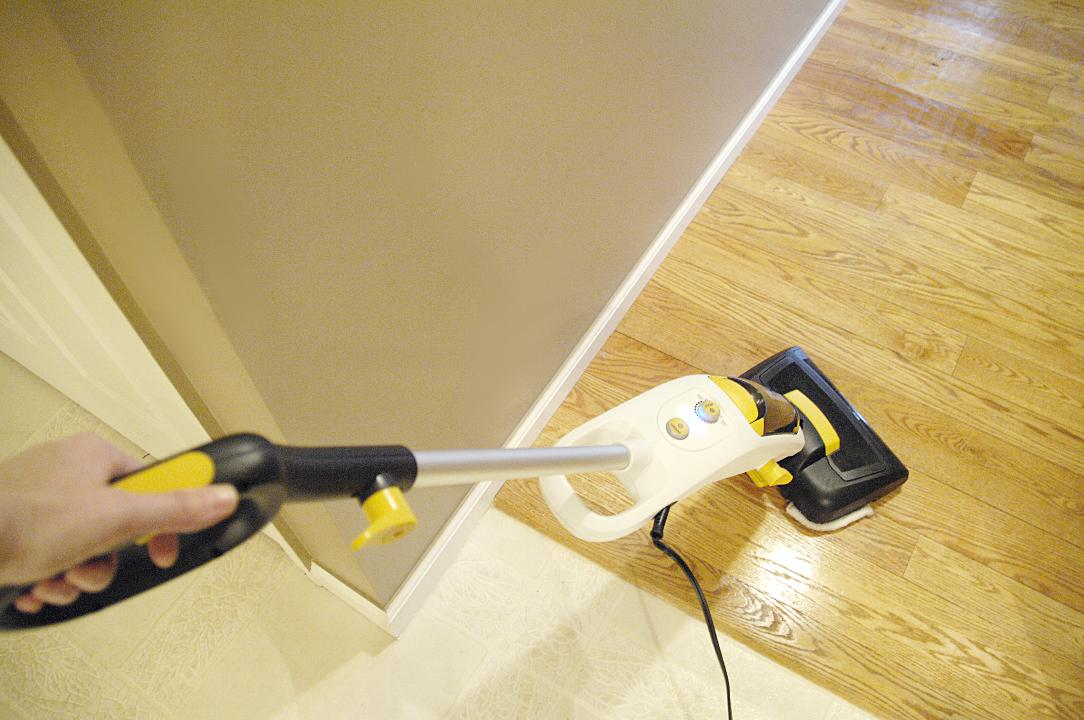 Oreck grab it steam it review and giveaway living rich for Floors for less reviews