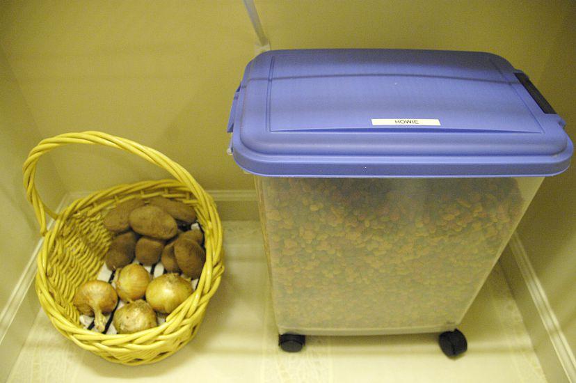 Dog food storage idea