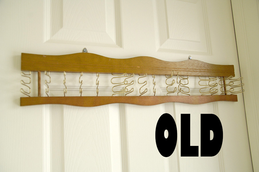 Old-tie-rack