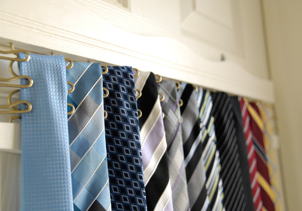Tie-rack-closeup