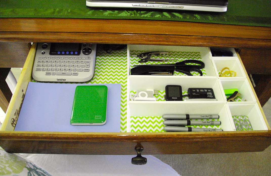 An Organized (and Pretty) Desk Drawer  Living Rich On. Steve Silver End Table. End Table Lamp. Chic Office Desk. Big Pc Desk. Remote Help Desk Software. Adjustable Desk Legs. Cheap Drawers For Bedroom. Floating Wall Desk