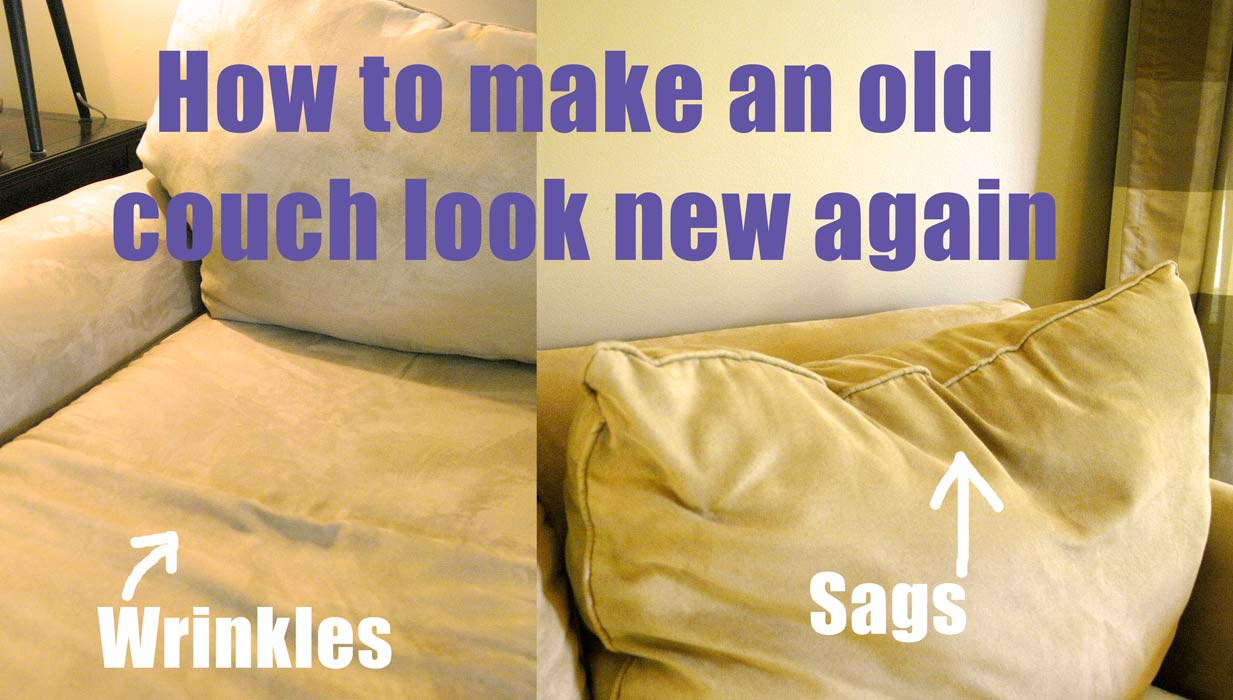 How to make an old couch new again for 10 living rich on lessliving rich on less - Simple ways of revamping your old sofa ...