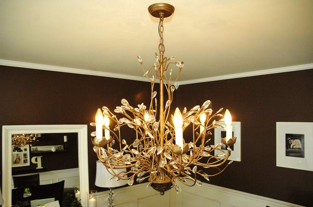 inspiring living room chandelier | My first-floor closet conundrum | Living Rich on Less