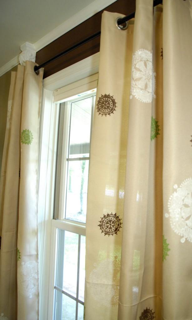 Stenciled-curtains