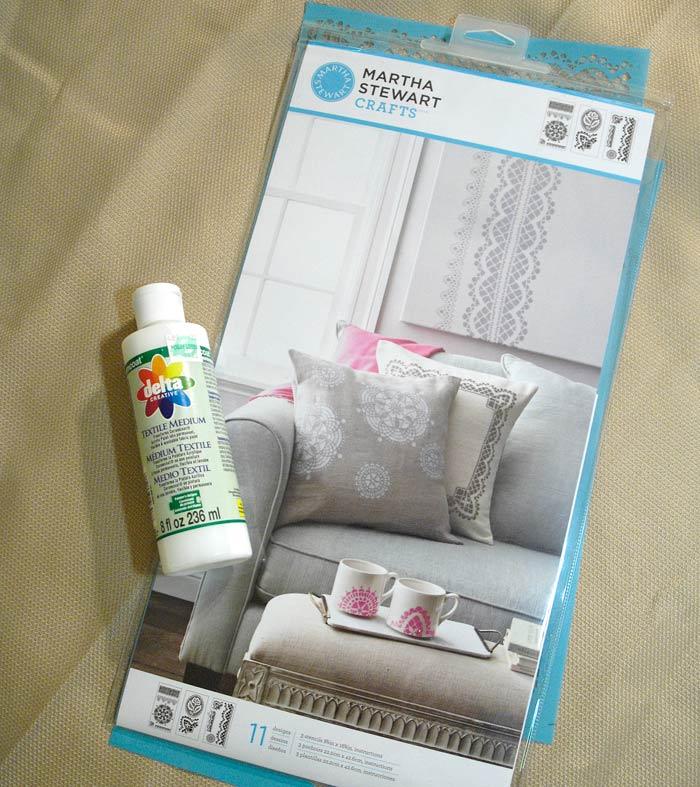 Stencils-and-fabric-medium