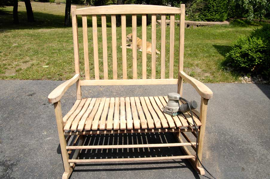 Long Overdue Rocking Chair Redo Plus A Color Wheel Lesson Living Rich On Less