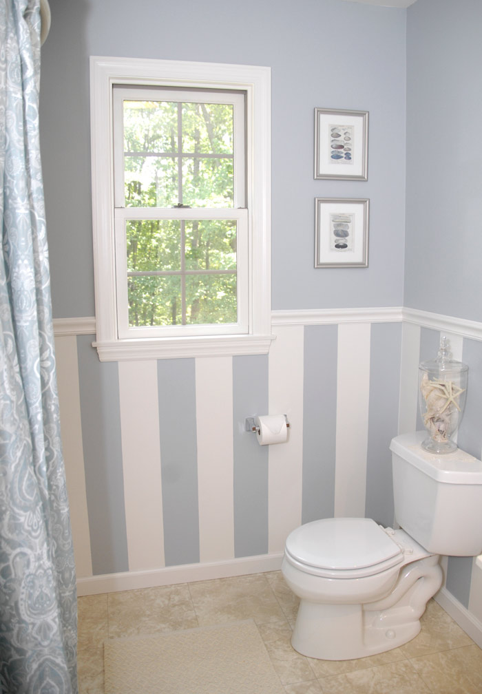 Chair Rail In Bathroom Part - 16: DIY-wall-art-in-room