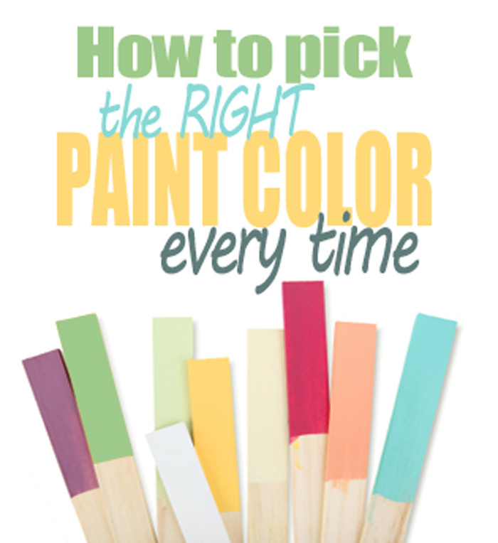 How To Choose A Paint Color how to pick the right paint color every time - living rich on