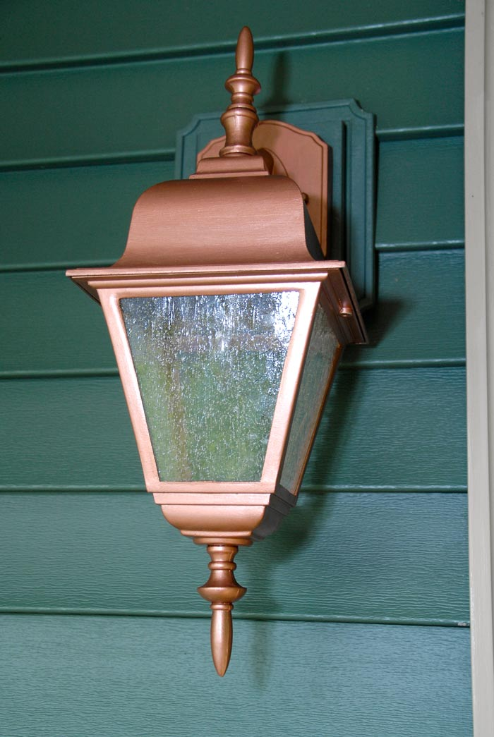 Easy Thrifty Exterior Light Makeover Living Rich On Lessliving Rich On Less