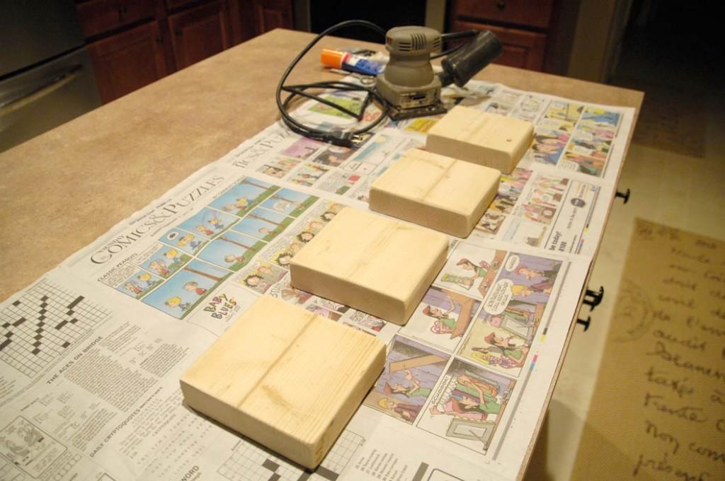 Sanded-letter-blocks