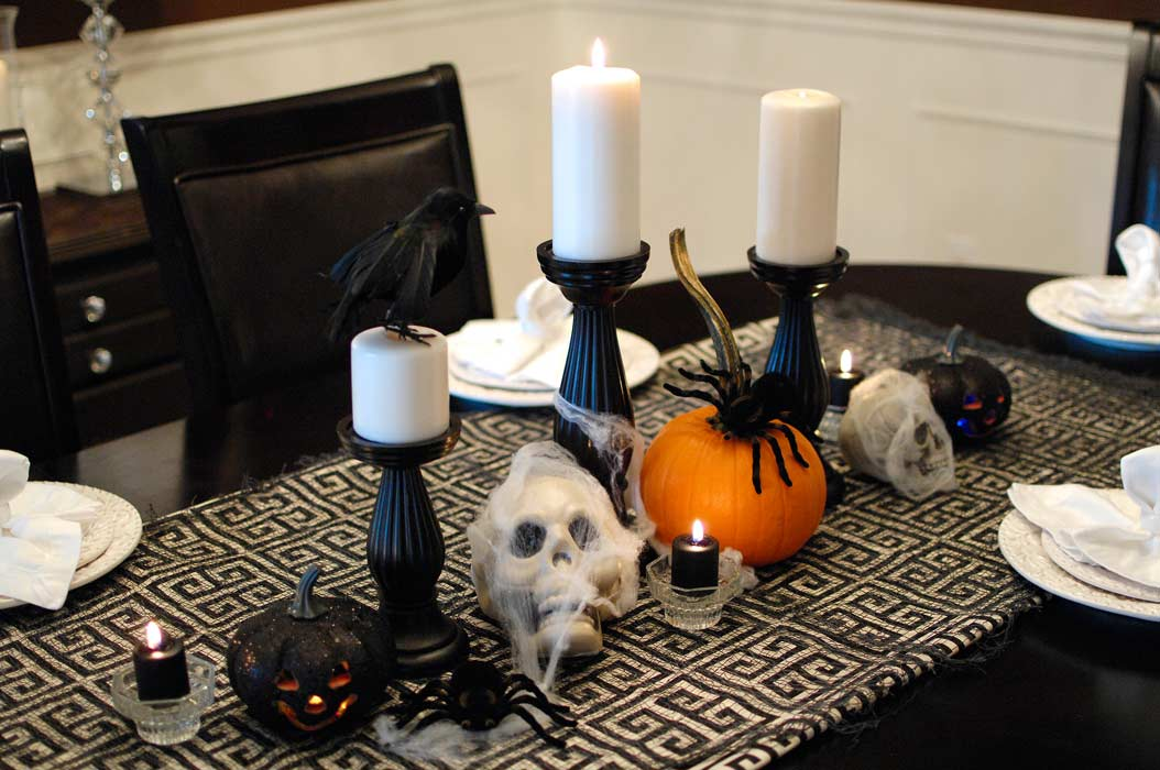 Halloween Decorations In The Dining Room Living Rich On Less