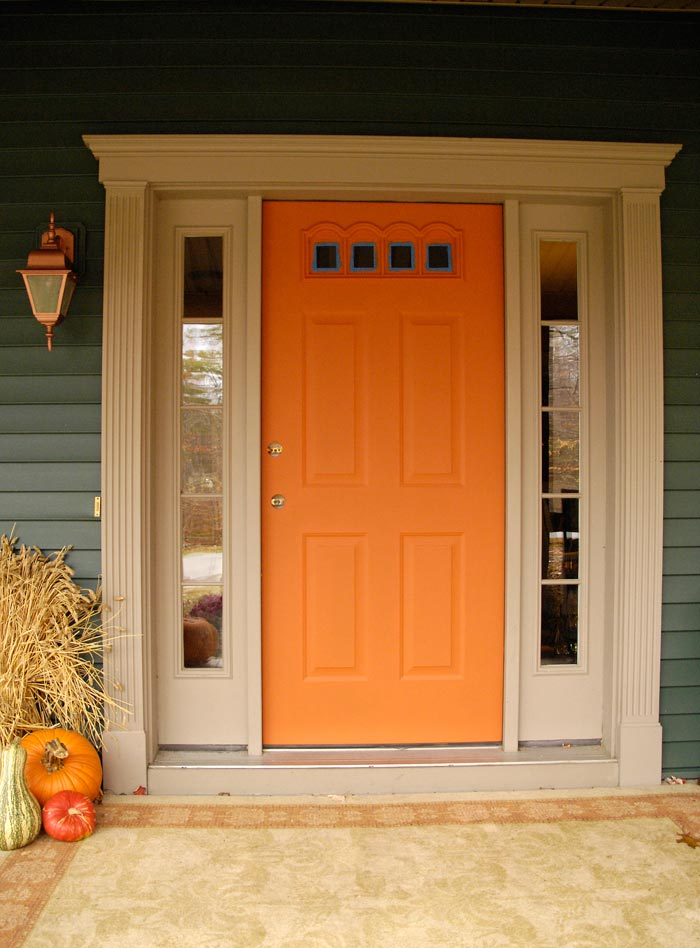 Front Door Redo Using Faux Wood Grain Technique Living
