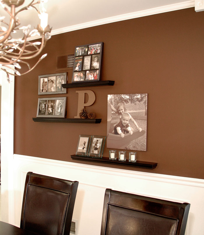 Dining room gallery wall living rich on lessliving rich for What to put on dining room walls