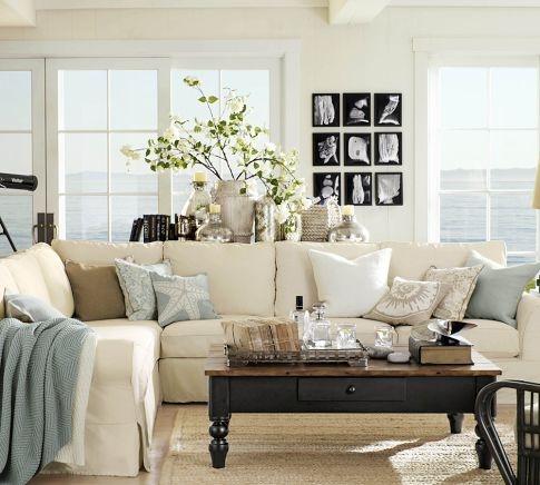 Living room decor inspiration living rich on lessliving - Pottery barn living room furniture ...