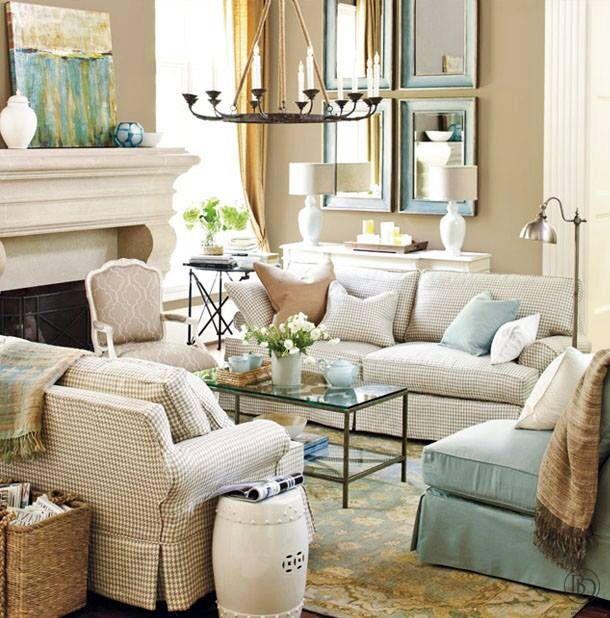 Living room decor inspiration living rich on lessliving for Living room decor inspiration