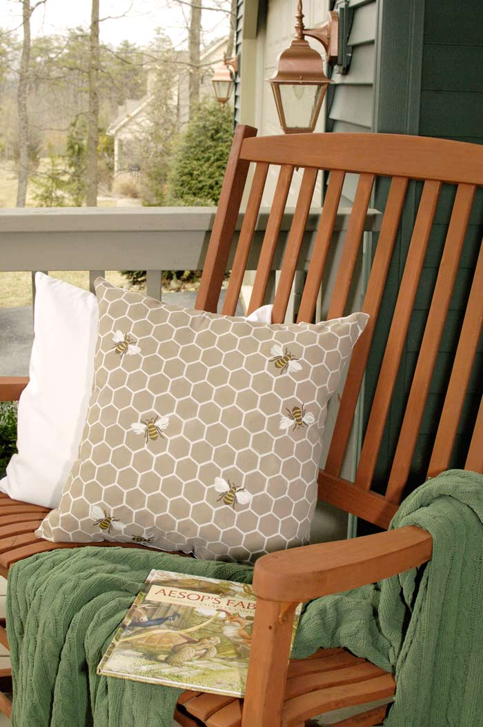 Bee-pillow-porch-environmental