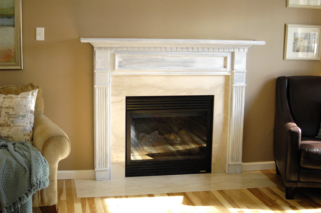 Fireplace transformation in progress - Living Rich on LessLiving ...