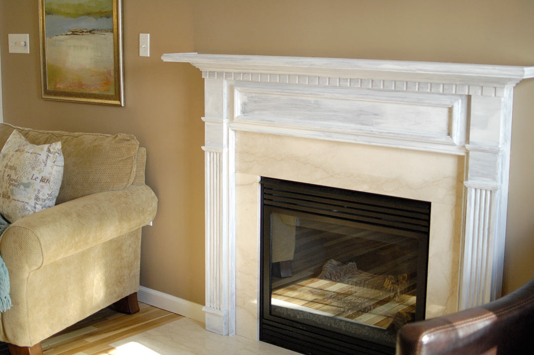 White-fireplace-mantel