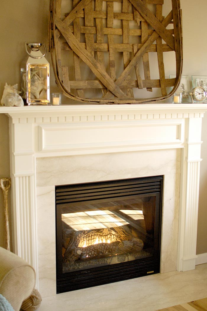 White Fireplace Mantel Makeover Living Rich On Lessliving Rich On Less