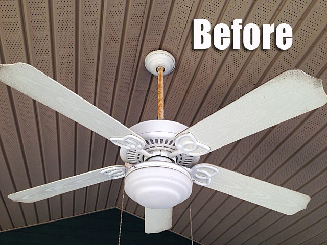 The great outdoor fan renovation living rich on lessliving rich on fan before aloadofball Images