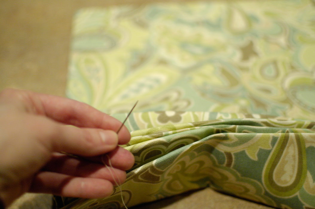 Sewing-pleats