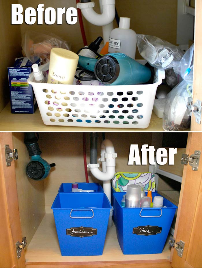 Before-and-after-sink-organization