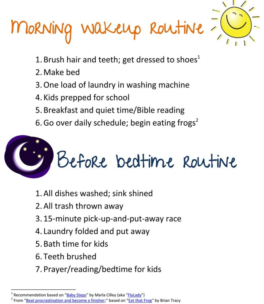 Morning-&-Evening-Survival-Routine