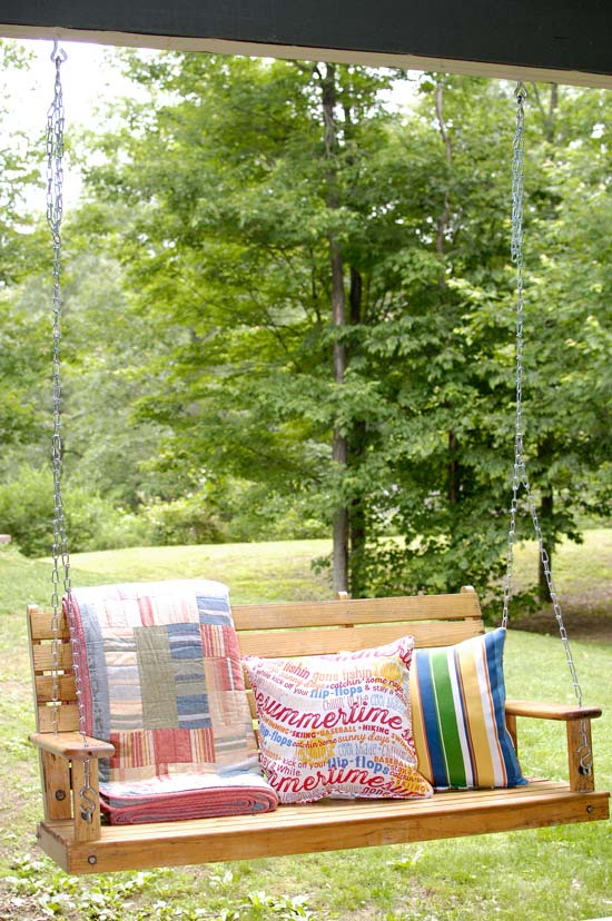 Porch Swing Hanging Tipsliving Rich On Less