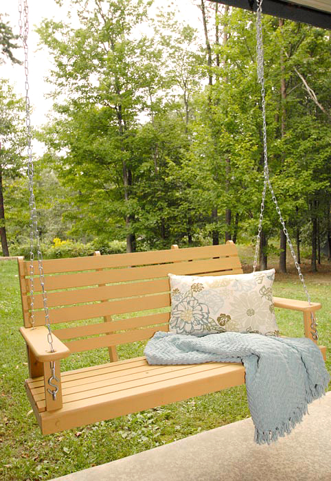 Chalky Finish Porch Swing Redoliving Rich On Less