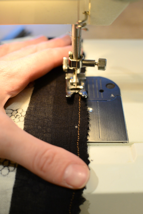 Hemming-raw-edge