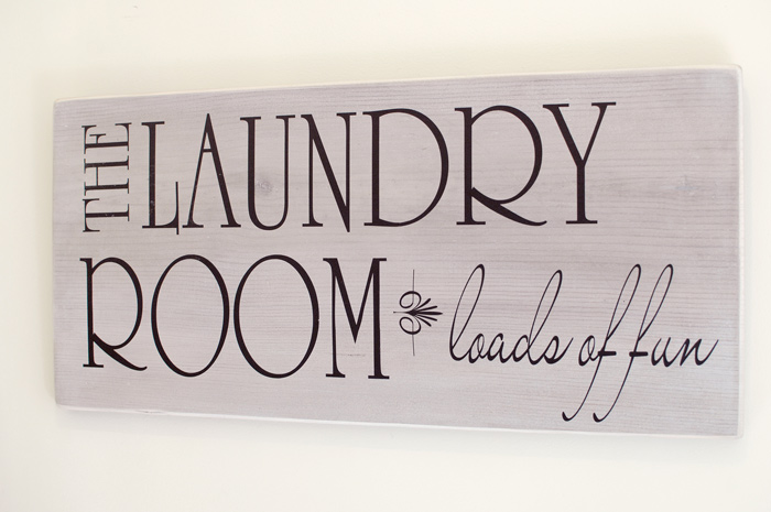 From Scrap Wood To Laundry Room Sign Living Rich On LessLiving - Laundry room signs