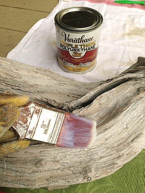 Varathane-on-driftwood