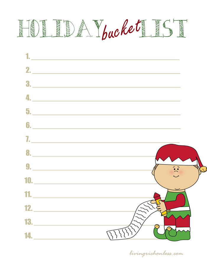 Holiday-bucket-list