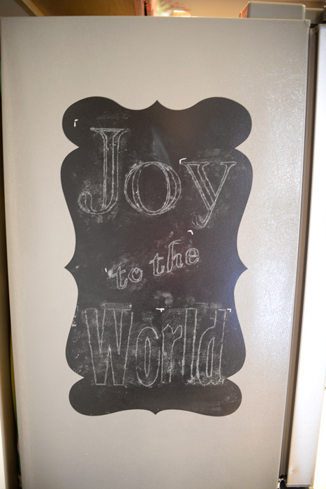 Traced-holiday-chalk-letters