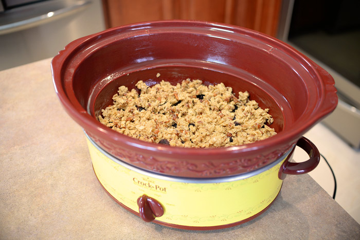 Slow-cooker-with-blueberry-crisp