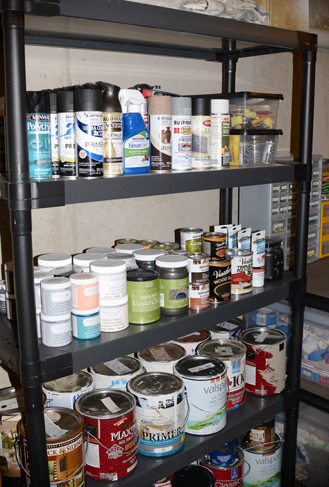 Organized-paint-shelf