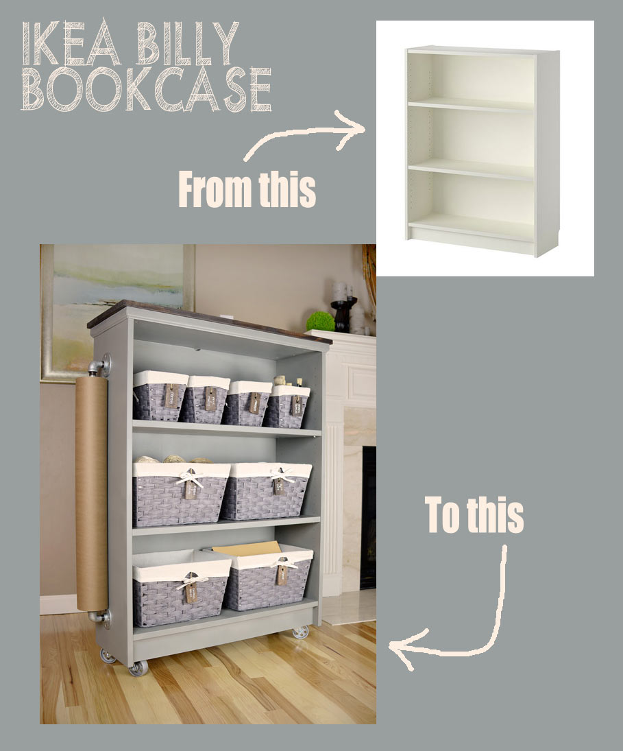 From IKEA Billy Bookcase to rolling craft cart + giveaway