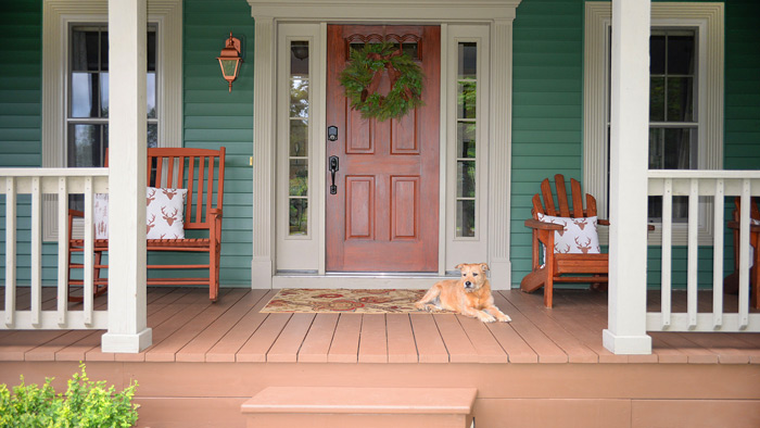Chestnut-stained-porch