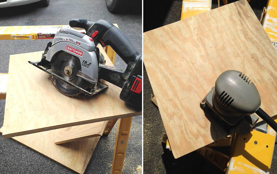 Cutting-and-sanding-plywood