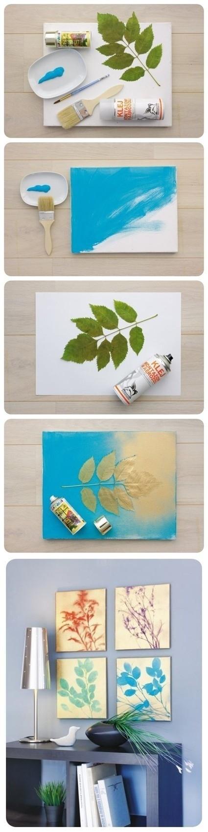 Gilded leaf art