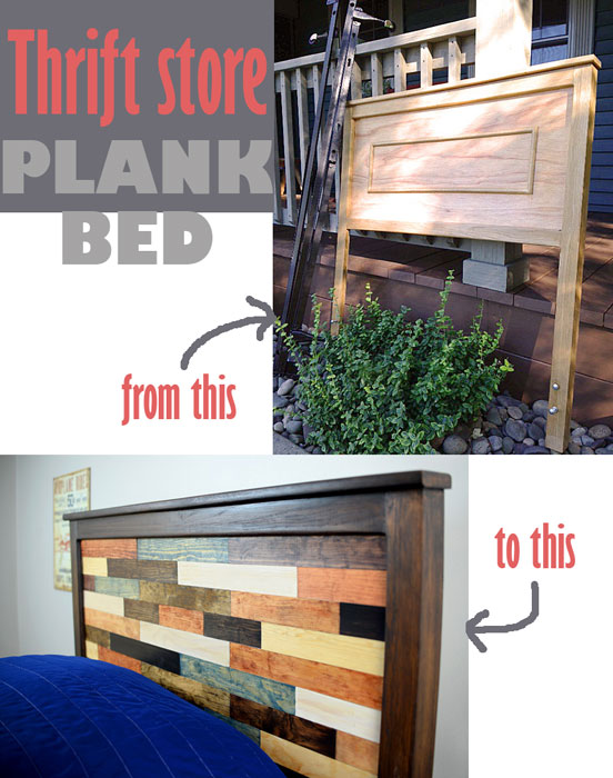 Thrift Store Plank bed