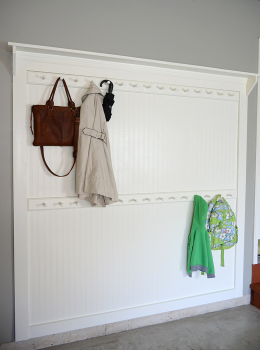 Diy Beadboard Shaker Peg Coat Rack Living Rich On Less