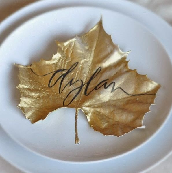 Leaf placecards