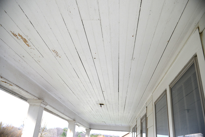 Porch-ceiling-before