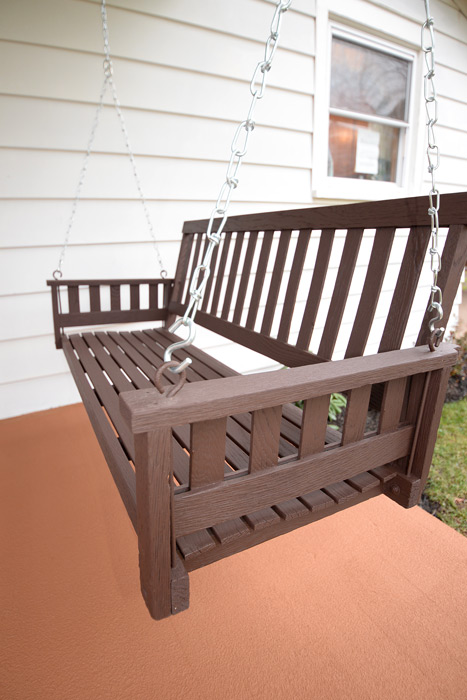 Stained-porch-swing